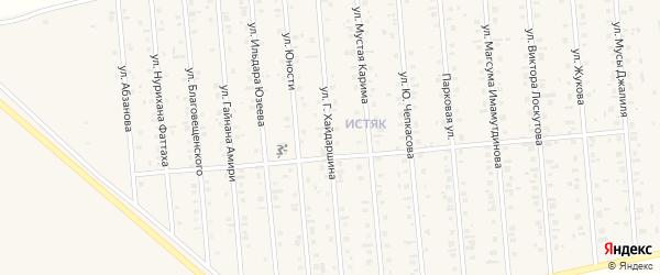 Улица Г.Хайдаршина на карте Янаула с номерами домов