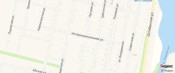 Интернациональная улица на карте села Языково с номерами домов