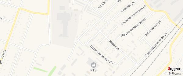 Степной переулок на карте Давлеканово с номерами домов