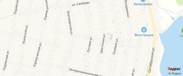 Юбилейная улица на карте села Языково с номерами домов