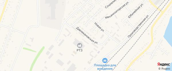 Давлекановская улица на карте Давлеканово с номерами домов