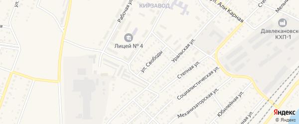 Улица Свободы на карте Давлеканово с номерами домов