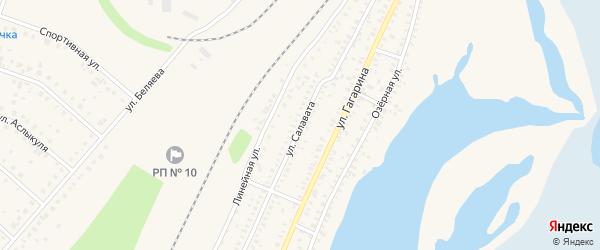 Улица Салавата на карте Давлеканово с номерами домов