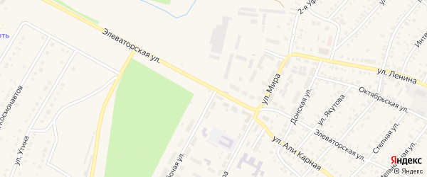 Элеваторская улица на карте Давлеканово с номерами домов
