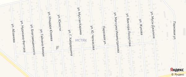 Улица Ю.Чепкасова на карте Янаула с номерами домов