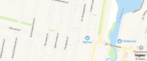 Школьная улица на карте села Языково с номерами домов