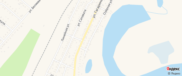 Озерная улица на карте Давлеканово с номерами домов
