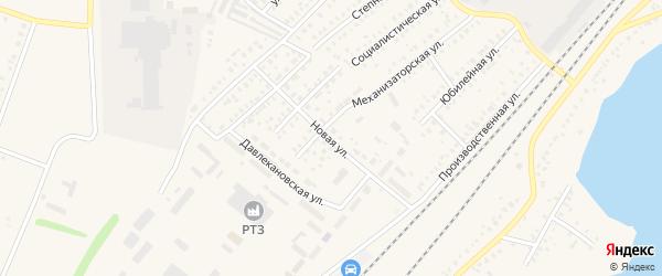 Новая улица на карте Давлеканово с номерами домов