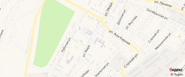 Улица Мира на карте Давлеканово с номерами домов