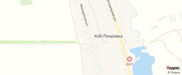 Молодежная улица на карте села Коба-Покровки с номерами домов
