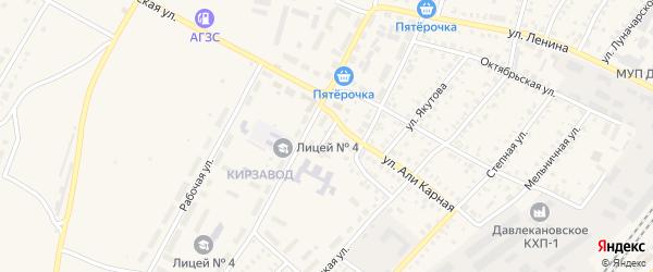 Кирпичный переулок на карте Давлеканово с номерами домов
