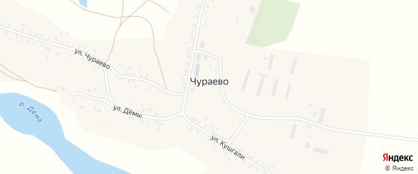 Улица Кушгали на карте деревни Чураево с номерами домов