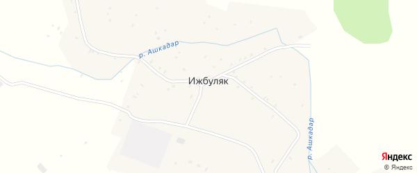 Короткий переулок на карте села Ижбуляка с номерами домов