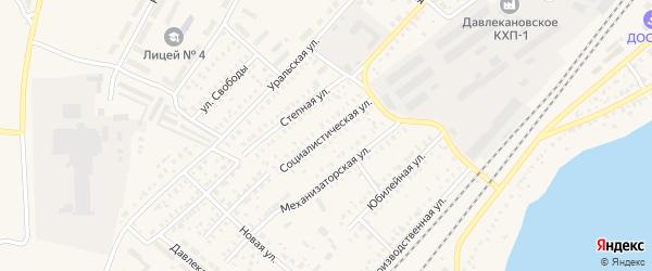 Социалистическая улица на карте Давлеканово с номерами домов