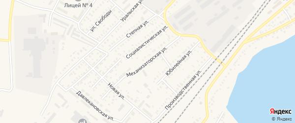 Механизаторская улица на карте Давлеканово с номерами домов