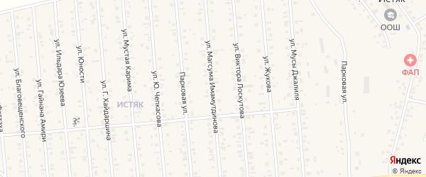 Улица М.Имамутдинова на карте Янаула с номерами домов