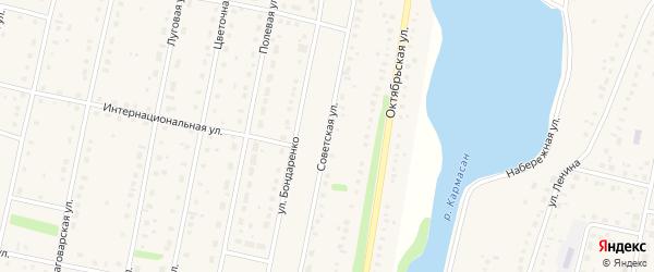 Советская улица на карте села Языково с номерами домов