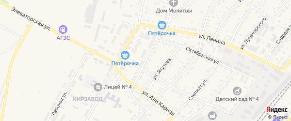 Донская улица на карте Давлеканово с номерами домов