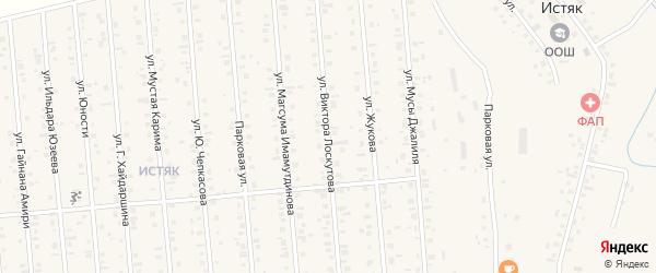 Улица В.Лоскутова на карте Янаула с номерами домов
