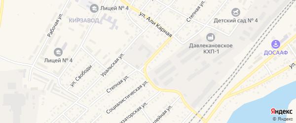 Степная улица на карте Давлеканово с номерами домов
