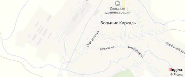 Советская улица на карте села Большие Каркалы с номерами домов