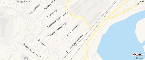 Юбилейная улица на карте Давлеканово с номерами домов