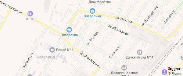 Улица Якутова на карте Давлеканово с номерами домов