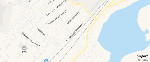 Производственная улица на карте Давлеканово с номерами домов