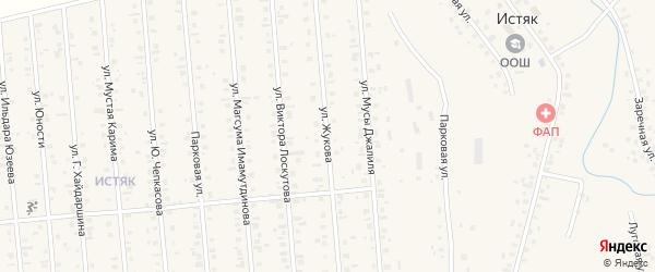 Улица Жукова на карте Янаула с номерами домов