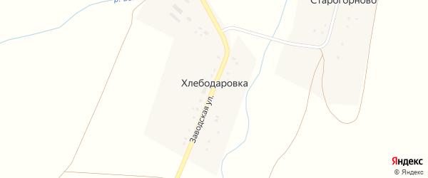Заводская улица на карте деревни Хлебодаровки с номерами домов