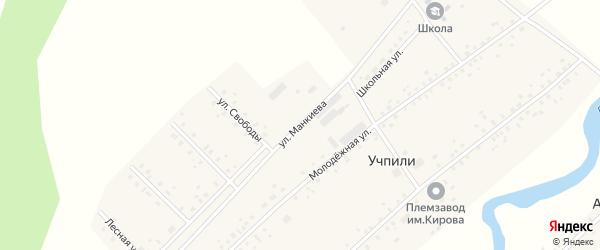 Улица Манкиева на карте села Учпили с номерами домов