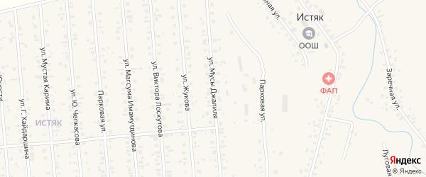 Улица М.Джалиля на карте Янаула с номерами домов
