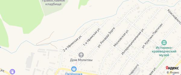 Уфимская улица на карте Давлеканово с номерами домов