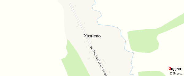 Улица Ришата Зиалтдинова на карте деревни Хазиево с номерами домов