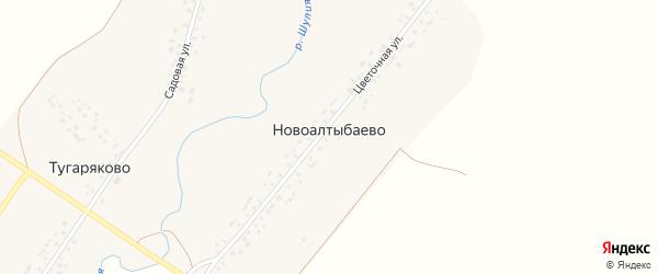 Цветочная улица на карте деревни Новоалтыбаево с номерами домов