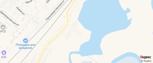 Красноармейский переулок на карте Давлеканово с номерами домов