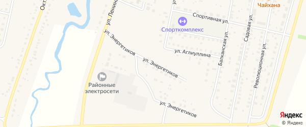 Улица Энергетиков на карте села Языково с номерами домов