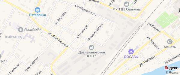 Мельничная улица на карте Давлеканово с номерами домов
