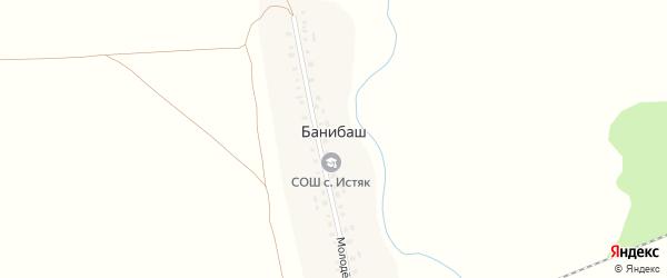 Молодежная улица на карте деревни Банибаша с номерами домов