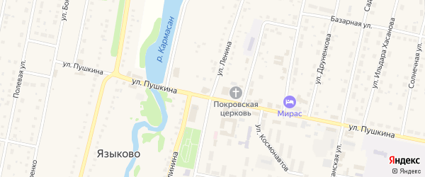 Улица Ленина на карте села Языково с номерами домов