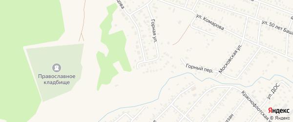 Заречная улица на карте Давлеканово с номерами домов