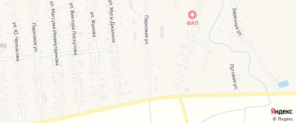 Парковая улица на карте села Истяка с номерами домов