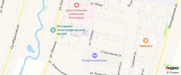 Улица Победы на карте села Языково с номерами домов