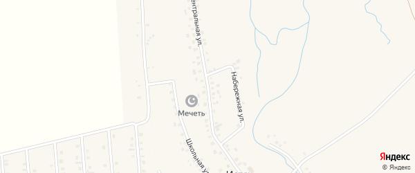 Центральная улица на карте села Истяка с номерами домов