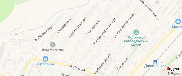 Улица Ферапонтова на карте Давлеканово с номерами домов