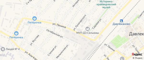 Улица Ленина на карте села Бика-Кармалы с номерами домов