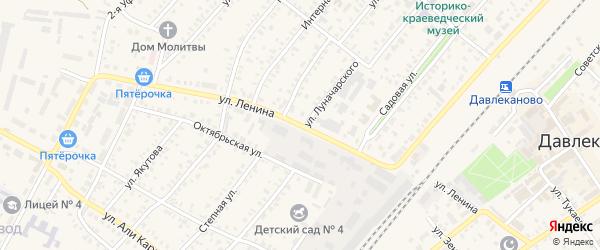 Улица Ленина на карте Давлеканово с номерами домов