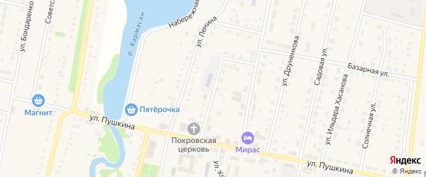 Социалистическая улица на карте села Языково с номерами домов