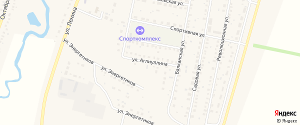 Улица Аглиуллина на карте села Языково с номерами домов