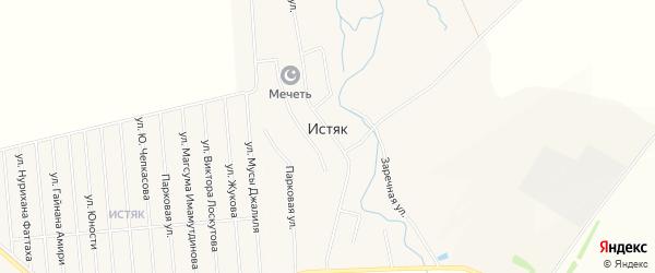 Карта села Истяка в Башкортостане с улицами и номерами домов